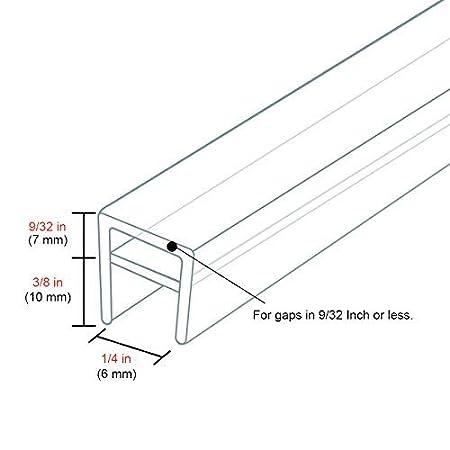 10 Feet Shower Door Glass Seal 5//16 Inch h Shape High Transparent Silicon Durable Frameless Shower Door Bottom Sweep Shower Door Bottom Seal for Door or Windows by DGQ