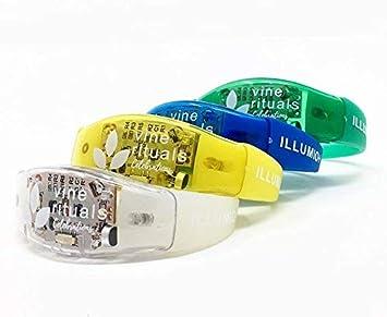 VINE RITUALS Cuatro música/activada por sonido LED pulseras con sensibilidad mejorada: La illumio + por Vine rituales celebraciones (colores surtidos): ...