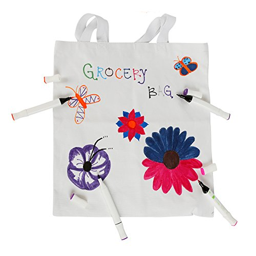 d2af120bdac1 BagzDepot Canvas Tote Bags Wholesale - 12 Pack - Plain Cotton Tote Bags in  Bulk