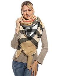 Stylish Plaid Blanket Oversized Warm Scarf - Chunky Tartan Wrap Shawl