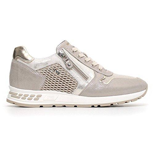 Sneaker Zip con Grigia in Donna Nero Giardini Pelle 5H1wqwf