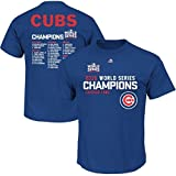 VF Chicago Cubs MLB Mens World Series Champions Sweet Line Up Roster Royal Blue Shirt Big & Tall Sizes