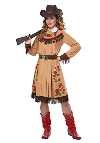 California Costumes Women's Cowgirl-Annie Oakley-Adult Costume, Tan,