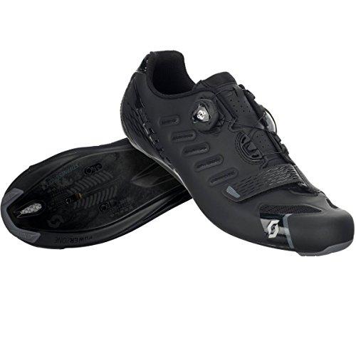 Scott Mens Road Team Boa Bike Shoes - 251815 (Matt Black/Gloss Black - 40)