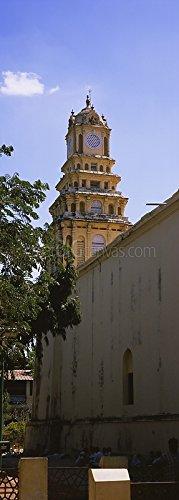 Low angle view of a clock tower, Thirumalai Nayakkar Mahal, Madurai, Tamil Nadu, India Gallery-Wrapped Canvas