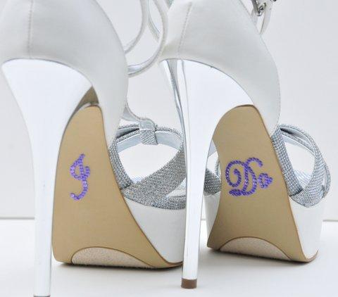 Unik Occasions Crystal Rhinestone I Do Wedding Shoe Stickers, Purple