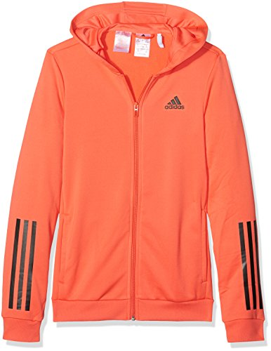 adidas Training Full Zip Hoodie - Girls - Easy Coral/Black - Age 11-12 by adidas