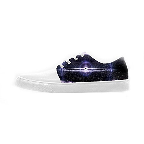 Custom Universe Flat Womens Canvas Chaussures Chaussures Chaussures Chaussures.