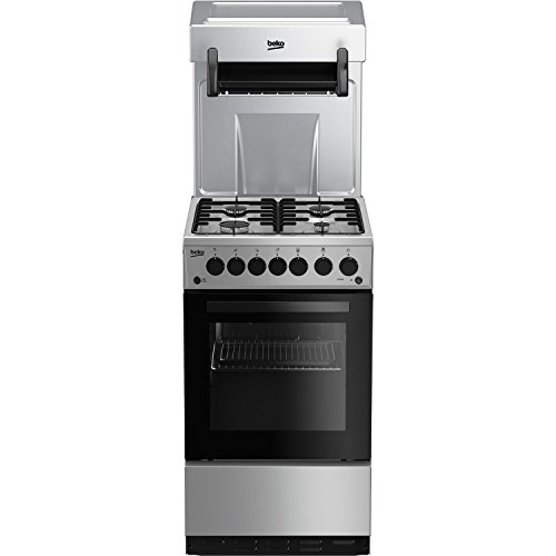 Beko KA52NES 50cm Single Oven Gas Cooker With Eye Level Grill - Silver