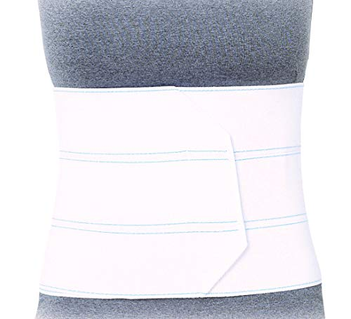 """Superior Braces Premium Abdominal Binder for Waist and Back Support, Compression Wrap, Post Surgery Support (4 Panel - Large/XLarge, 45"""" - 62"""" Waist)"""