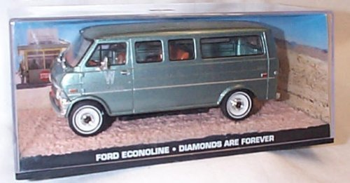 - james bond 007 ford econoline diamonds are forever film scene car 1.43 scale diecast mode by universal hobby