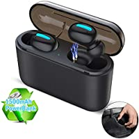 Yomais Wireless Earbuds, True Bluetooth 5.0 Auto Pairing Headphones Sweatproof 40H Playtime Deep Bass Stereo Earphones, Cordless in-Ear Earbuds with Portable 1500mAh Charging Case