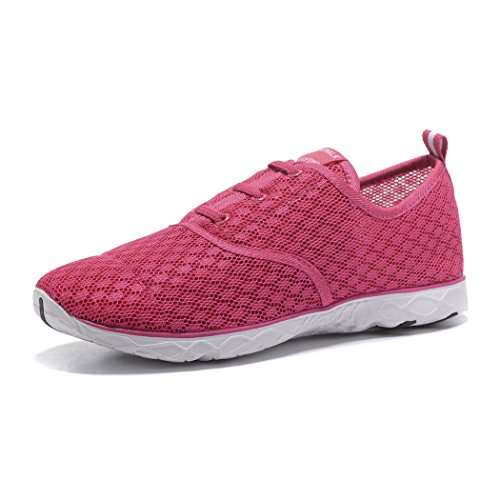 Kenswalk Women's On Rose Water Lightweight Shoes Slip Red Walking Shoes Aqua PP4dwqr