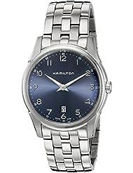 Hamilton Mens H38511143 Jazzmaster Thinline Analog Swiss Quartz Silver Stainless Steel Watch