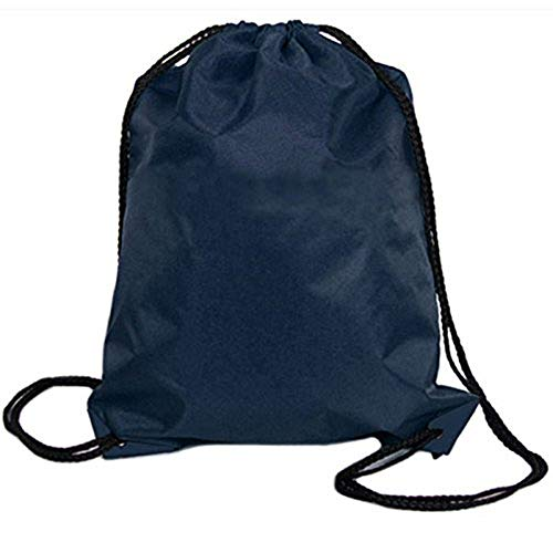 baskuwish Sports bags,Nylon Drawstring Cinch Sack Sport Travel Outdoor Backpack Bags (Dark Blue) from baskuwish Women Bag