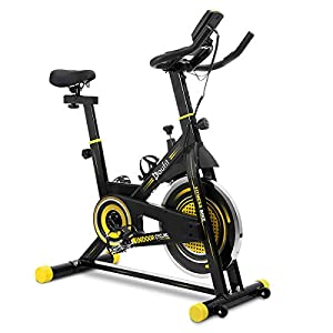 Well-Being-Matters 41EgGHQV1dL._SS300_ Indoor Cycling Bike Stationary, Doufit EB-09 Exercise Bike for Home Workouts Use, Belt Drive Gym Bicycle with 40Lbs…