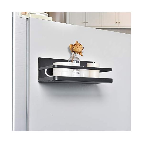 41EgH7aYiOL OIZEN Kühlschrank Regal Hängeregal für Kühlschrank Magnet Gewürzregal mit Ablage Küchenregal Küchen Organizer…
