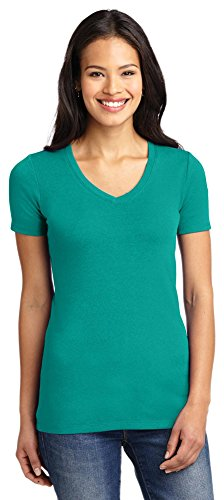 (Port Authority Ladies Concept Stretch V-Neck Tee, Deep Jade Green, XXX-Large)