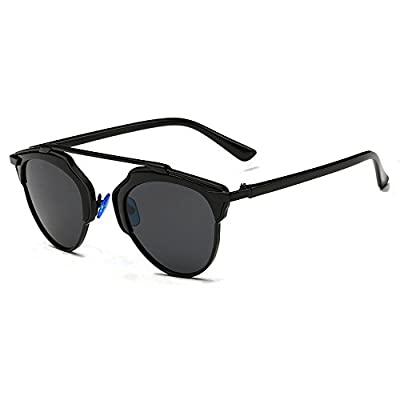 CHB Mirrored Lens street fashion metal frame polarized sunglasses uv400 with case