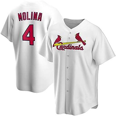 GMRZ Camiseta MLB, Manga Corta con St. Louis Cardinals # 4 Molina Diseño Logo Ropa Deportiva Equipo Béisbol De Grandes Ligas Fans Jersey Hombres Y Mujeres,Blanco,S: Amazon.es: Deportes y aire libre