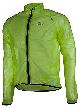 Rogelli Ciclismo para Hombre Chaqueta Impermeable Crotone Amarillo Fluor-Yellow Talla:XXXX-Large: Amazon.es: Deportes y aire libre