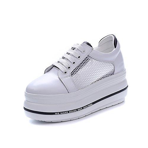 GTVERNH-Women'Shoes/Zapatillas Mujer/Zapatos Net Zapatos Hembra Gruesas Suelas Zapatos Calzado Casual Cabeza Corbata Zapatos De Aumento Vaciado black