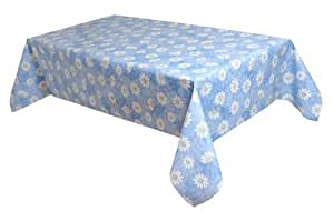 MG Oilcloth-Tablecloth Washable Chamomile Blue-White-Yellow ( 110-01 ) - 240 X 140 Cm