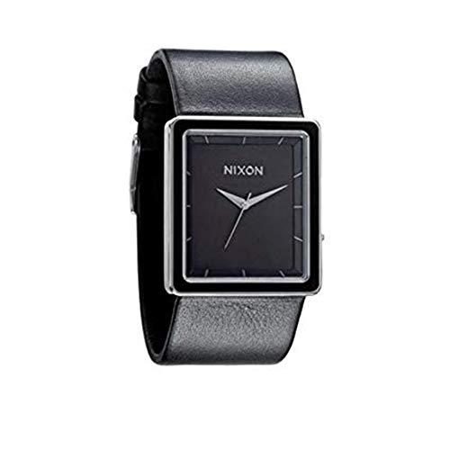 Nixon Portrait Square Black Dial Black Leather Women's Watch A304000