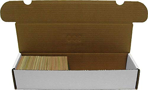 (BCW 800-Count Storage Box for Standard 20pt Trading Cards | 200 lb. Test Strength | (5-Count))
