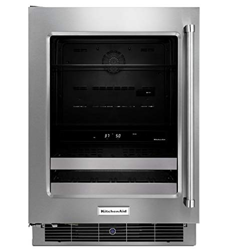 Refrigerator Commercial Kitchenaid - KitchenAid KUBL304ESS 24 Inch Stainless Steel Beverage Center