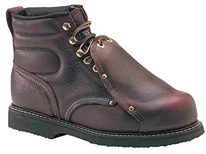 Lace Up Brown Wrk Boots Mens 6inH 4 D PR