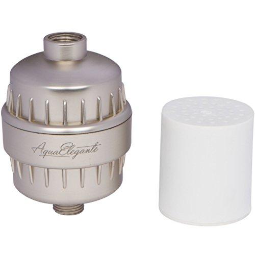 aqua elegante high output luxury shower filter best chlorine removing filtration system. Black Bedroom Furniture Sets. Home Design Ideas