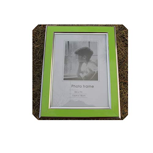 - Modern Candy Color Silver Rimmed Photo Frame Plastice Picture Frame 1pcs Family Frames for Pictures Marcos para fotos,Green,7 inch