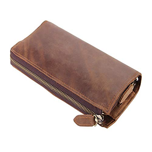 Leather Wallet Handbag Pocket Leather Multi Crystalzhong Leather Classic Atmospheric Wallet Wallet Mens Card Vintage OCwzfqC