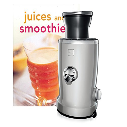 Novis Vita Juicer Silver 4-in-1 Multi-Function Electric Juicer with Bonus Tuttle Juices and Smoothies Cookbook
