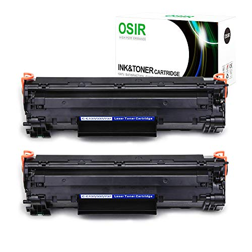 OSIR 2 Black 137 Toner Cartridges Replacement for Canon 137 Crg-137, High Yield, Compatible with Canon imageCLASS MF216n, MF227DW, MF229DW, MF247DW, MF236N, LBP151dw, MF249DW, MF244dw, MF217W Printer