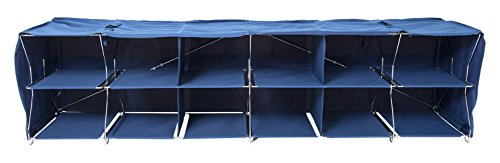 Origami R-LOPO-NA Folding 12 Bay Shelf, Medium, Blue