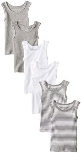 Burt's Bees Unisex Baby Solid Muscle Tanks, Pack of 6