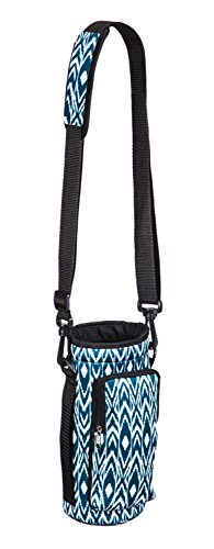 Cypress Home B. Boutique Ikat Neoprene Travel Water Bottle Carrier for Hiking, Strollers and Outdoor Activities