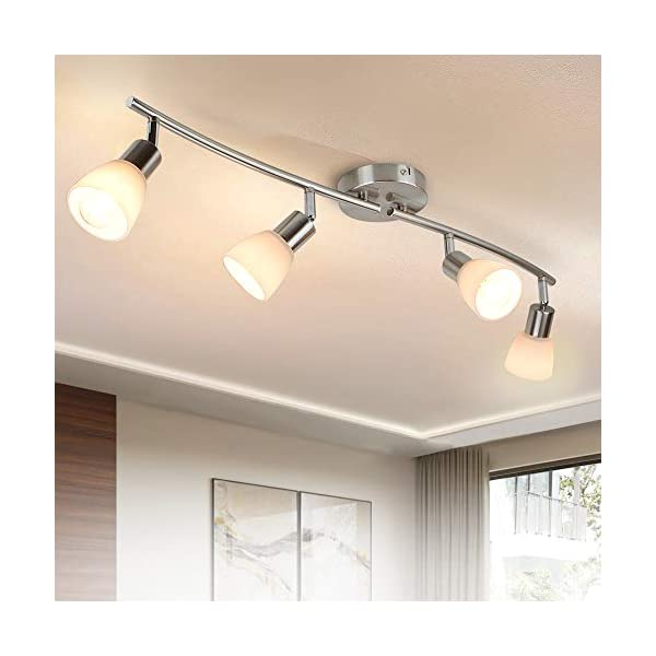 dllt 4 light track lighting fixtures adjustable directional spotlight ceiling modern flush mount wall lights with glass