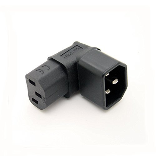 IEC C14 TO C13 POWER ADAPTER PDU PLUG/SOCKET UP 90 DEGREE Wall-mounted LCD TV