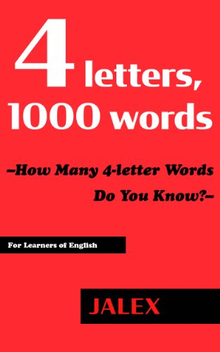 4 letters 1000 words how many 4 letter words do you know jalex word learning tool for learners of english kindle edition by jalex