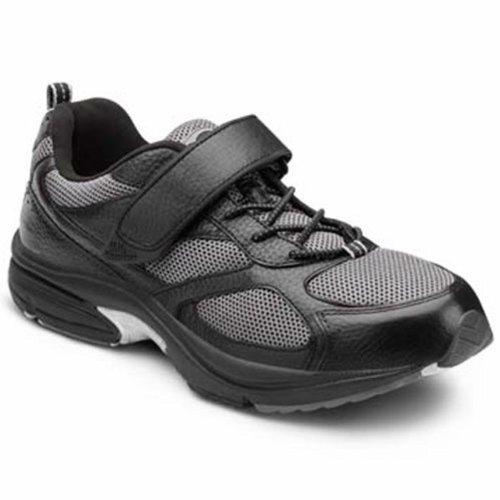 Dr. Comfort Endurance Men's Therapeutic Diabetic Extra Tiefe Schuh Leder / Mesh-Schnürung Schwarz