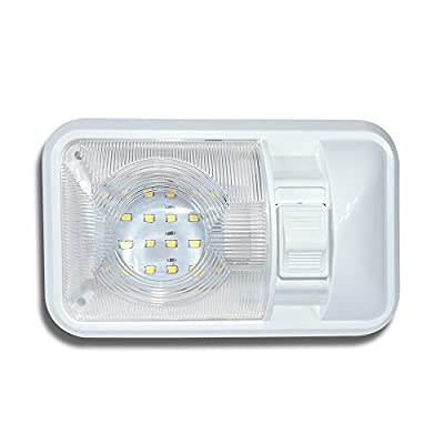 12V Led RV Ceiling Dome Light RV Interior Lighting for Trailer Camper with Switch, Single Dome 280LM: Automotive