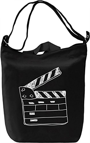 Doodle clapperboard Borsa Giornaliera Canvas Canvas Day Bag| 100% Premium Cotton Canvas| DTG Printing|