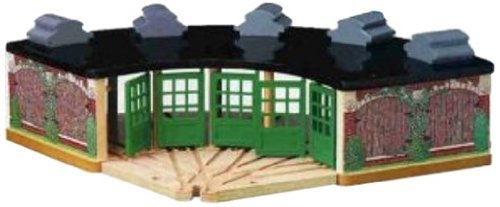 Thomas And Friends Wooden Railway - Roundhouse by Learning Curve
