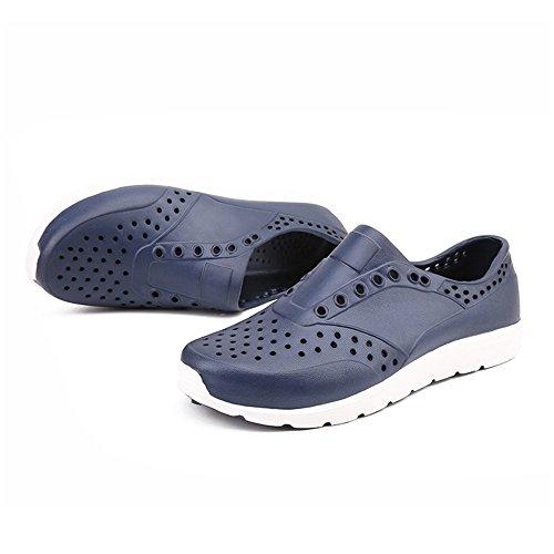 Color Blu Scuro spiaggia Mens scarpe da su EU sandalo Zoccoli Dimensione da 42 da piccolo con cava 2018 uomo Rosso shoes 6wOHPRx