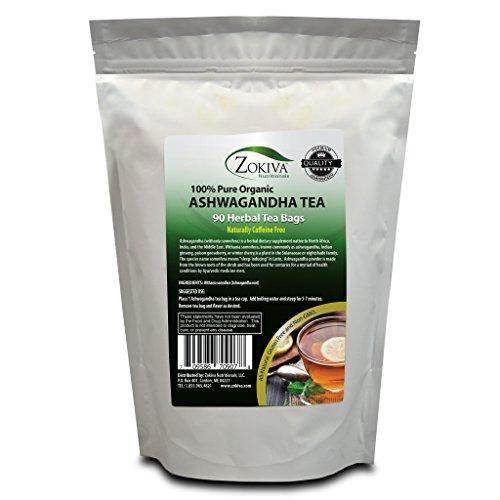 Ashwagandha Tea Organic 90 Bags Premium Quality 100% Pure Root -Withania Somnifera