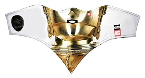 [Airhole Unisex Standard Facemask C3PO ML] (C3po Mask)