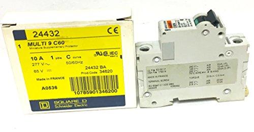 6a Circuit Breakers - Square D Multi 9 C60 Miniature Circuit Breaker 1 Pole 6A Multi 9 C60